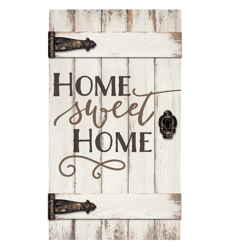 Gracie Oaks Barn Door Home Sweet Home Wall Dcor Reviews Wayfair
