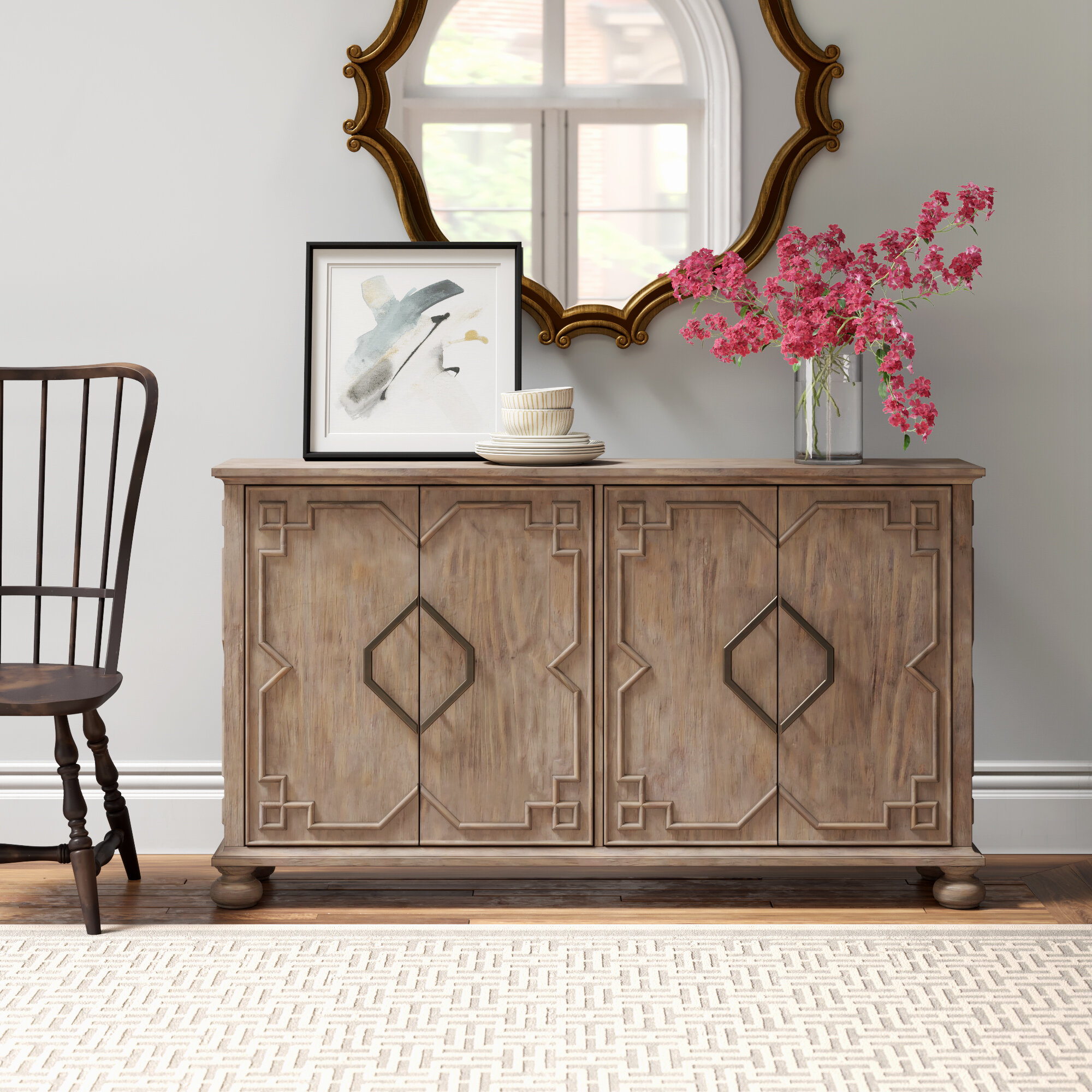 Anno 62 Wide Pine Wood Sideboard Reviews Joss Main
