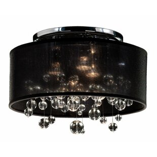Everly Quinn Thomasina 3-Light Semi Flush Mount