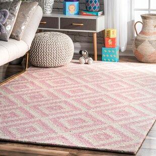 Arrowood Hand-Tufted Wool Light Pink Area Rug