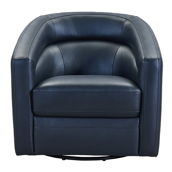 Fantastic Black Leather Swivel Chair Wayfair Squirreltailoven Fun Painted Chair Ideas Images Squirreltailovenorg