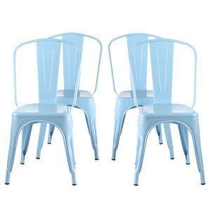 Apatow Industrial Bistro Dining Chair (Set of 4) by Highland Dunes