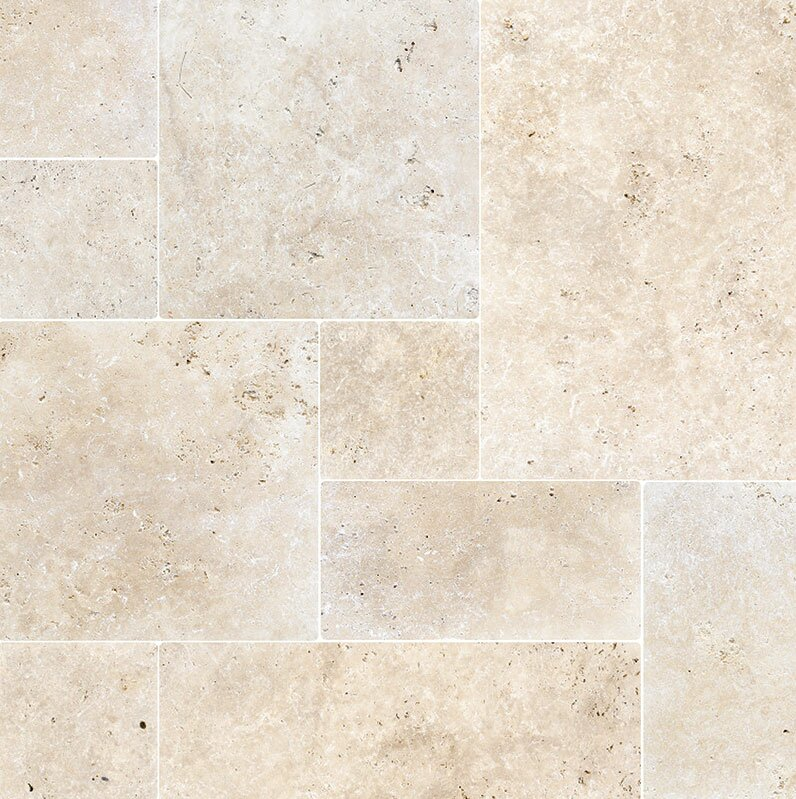 Parvatile Ivory French Pattern Tumbled