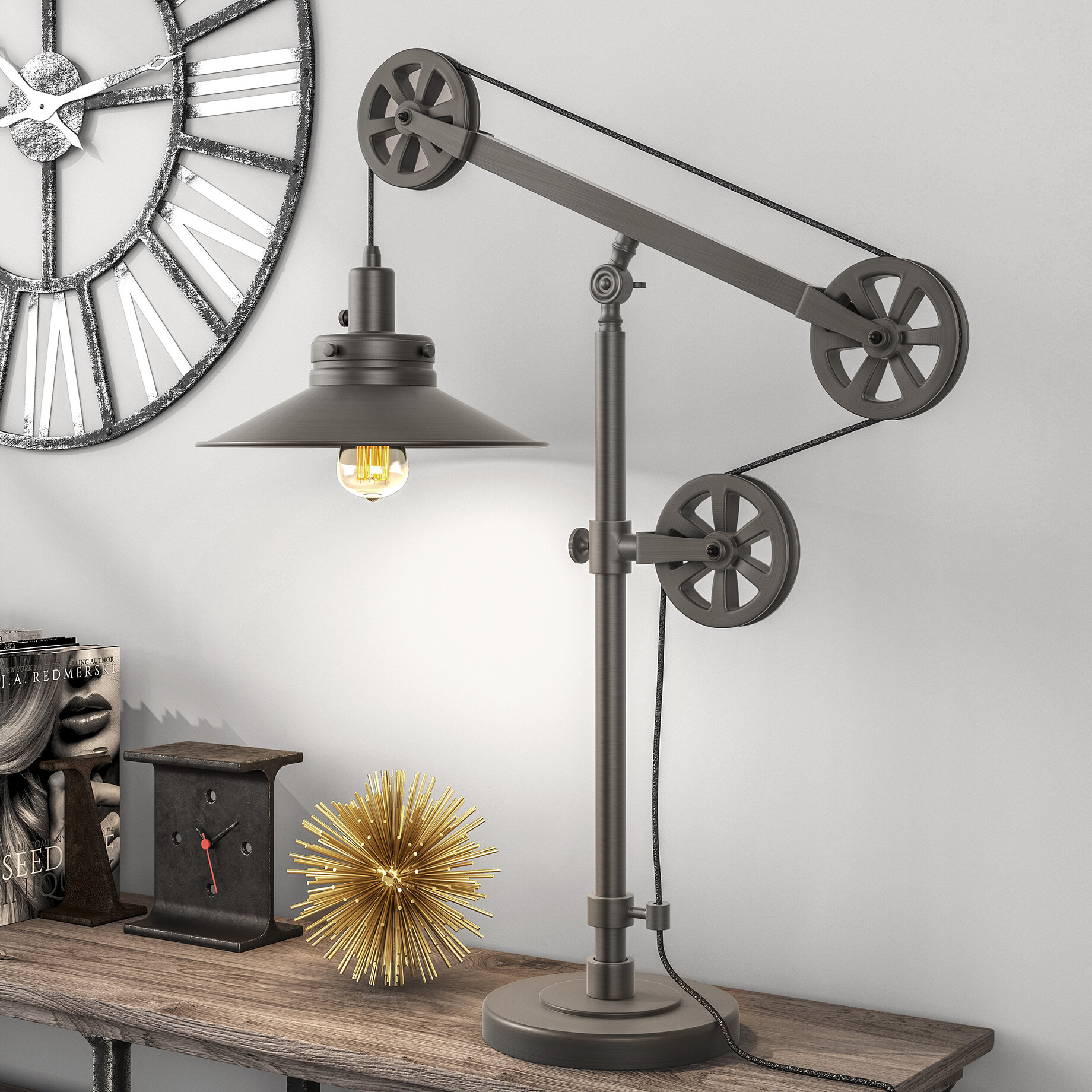 Picture of: Brass Swing Arm Table Lamps You Ll Love In 2020 Wayfair