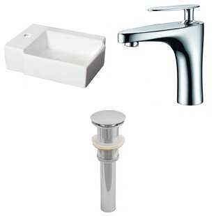 Compare & Buy Ceramic 16.25 Bathroom Sink with Faucet ByRoyal Purple Bath Kitchen