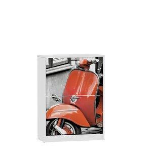 Red Vespa 13 Pair Flip Down Shoe Storage By Suarez~ Distrimobel Saetabis S.L