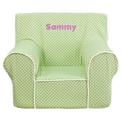 Personalized Kids Cotton Foam Chair Flash Furniture