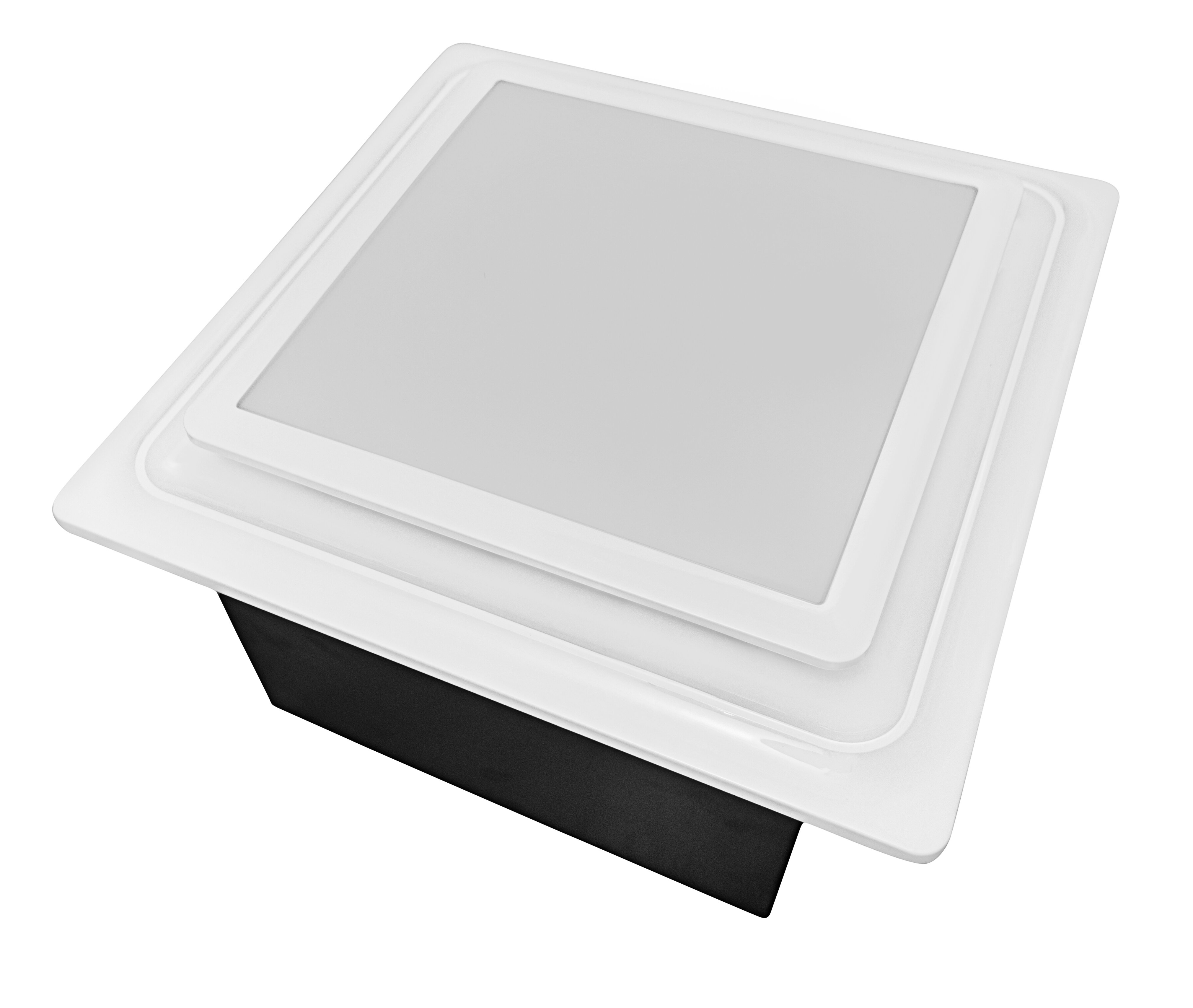 ABF110DH L5 W 110 CFM Energy Star Bathroom Fan With Light And Humidity  Sensor