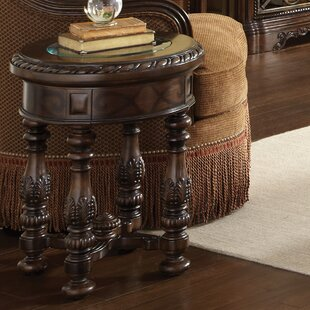 Evelyn Chairside Table by Astoria Grand