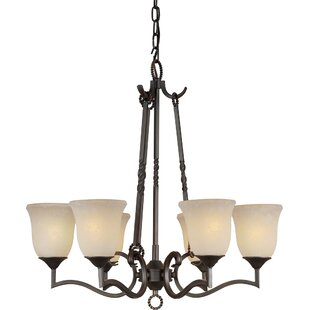 Fleur De Lis Living Bourke 6-Light Shaded Chandelier
