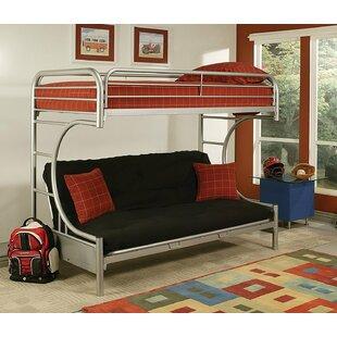 Kelm Metal Tube Twin Futon Bunk Bed by Zoomie Kids