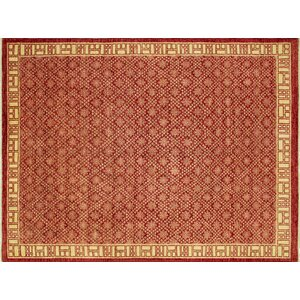 One-of-a-Kind Aidric Hand-Knotted Red Area Rug