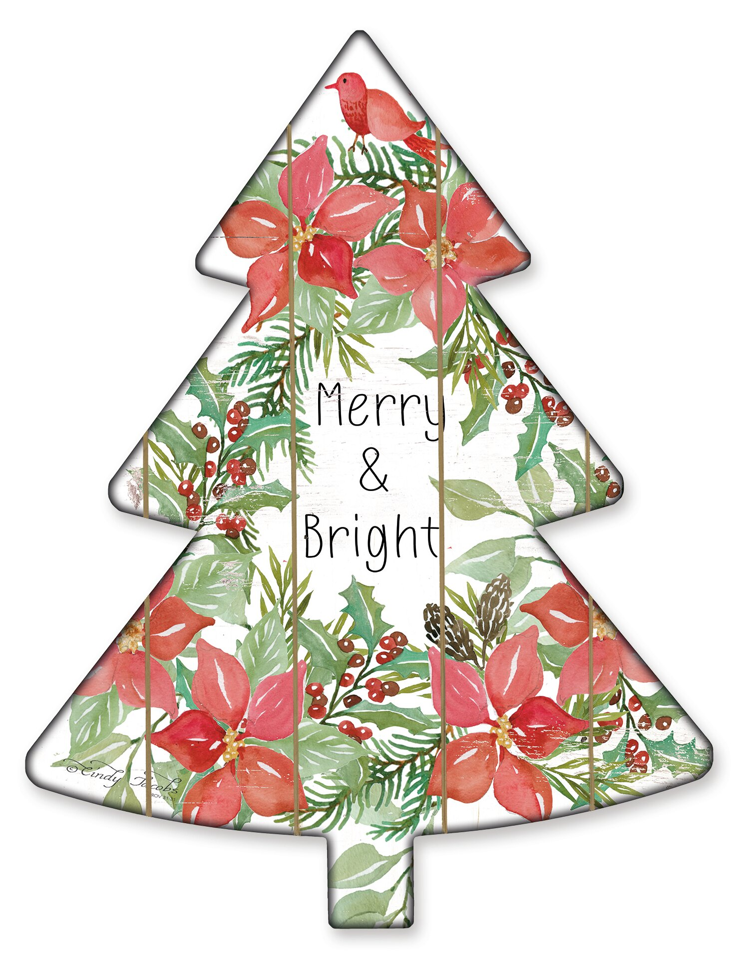 The Holiday Aisle Merry And Bright Christmas Tree Cutouts Wayfair
