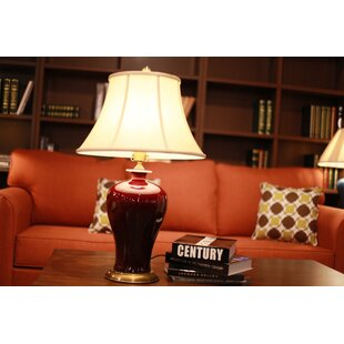 Red table lamps youll love wayfair save aloadofball Gallery