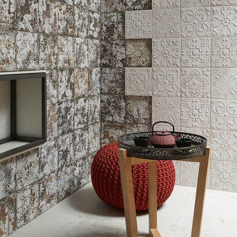 Aevit 7 88 X Ceramic Field Tile In Dark Ornato