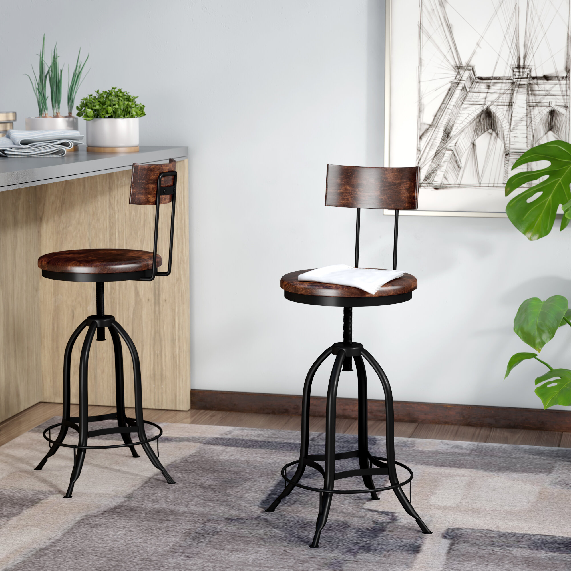 Sensational Nevada Adjustable Height Swivel Bar Stool Onthecornerstone Fun Painted Chair Ideas Images Onthecornerstoneorg