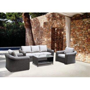 Gantz 4 Piece Sofa Set with Cushions
