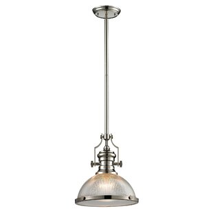 Breakwater Bay Roa 1-Light Dome Pendant