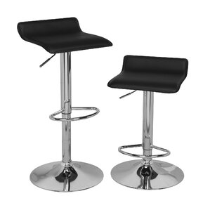 Adjustable Height Swivel Bar Stool (Set of 2) by OneSpace