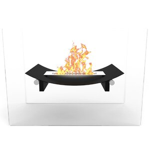 Bow Free Standing Indoor/Outdoor Bio-Ethanol Fireplace by Elite Flame