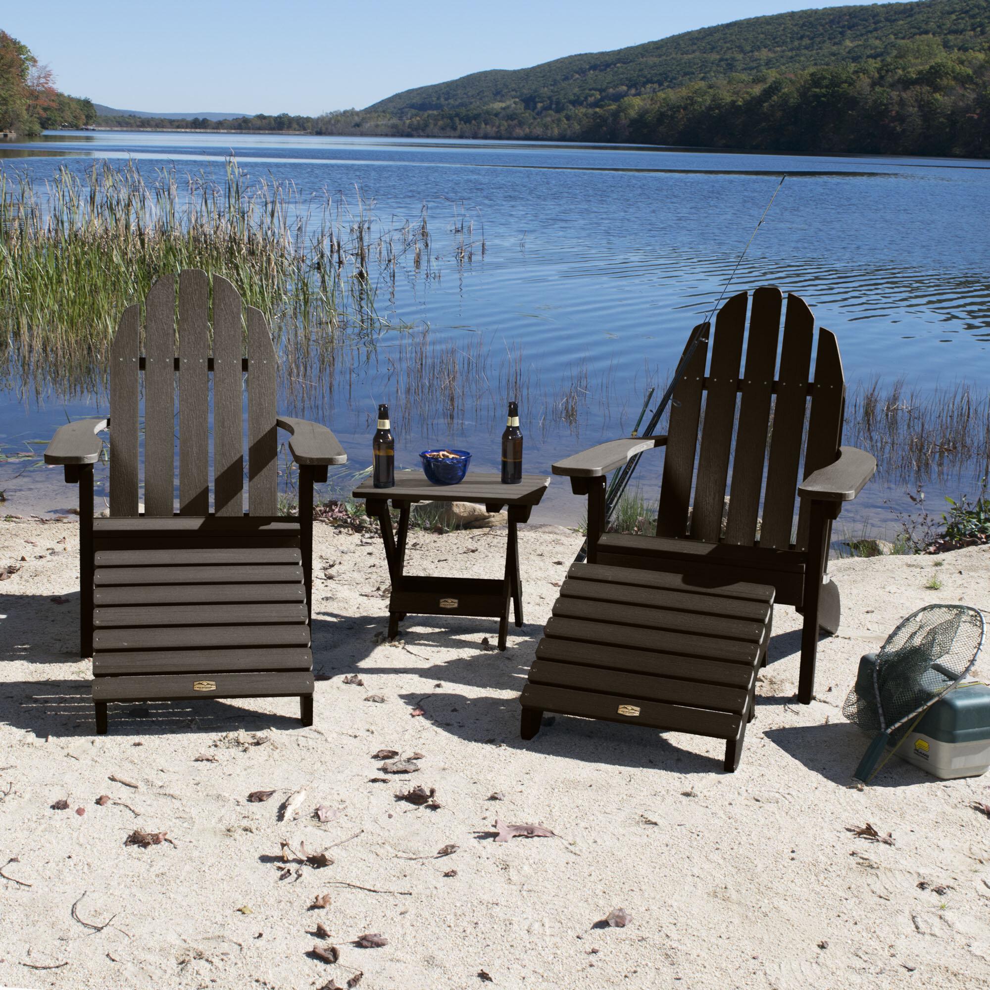Plastic Adirondack Chairs With Ottoman.Detrick Plastic Adirondack Chair With Ottoman