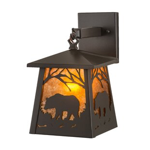 Almon Bear Outdoor Wall Lantern by Loon P..