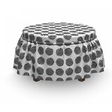 Striped Rounds Art Ottoman Slipcover (Set of 2) by East Urban Home