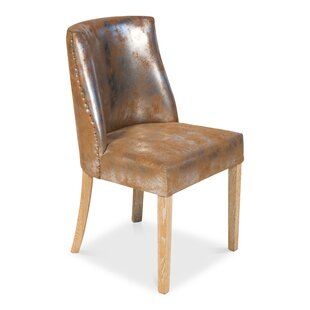 Spotts Genuine Leather Upholstered Dining Chair (Set of 2)