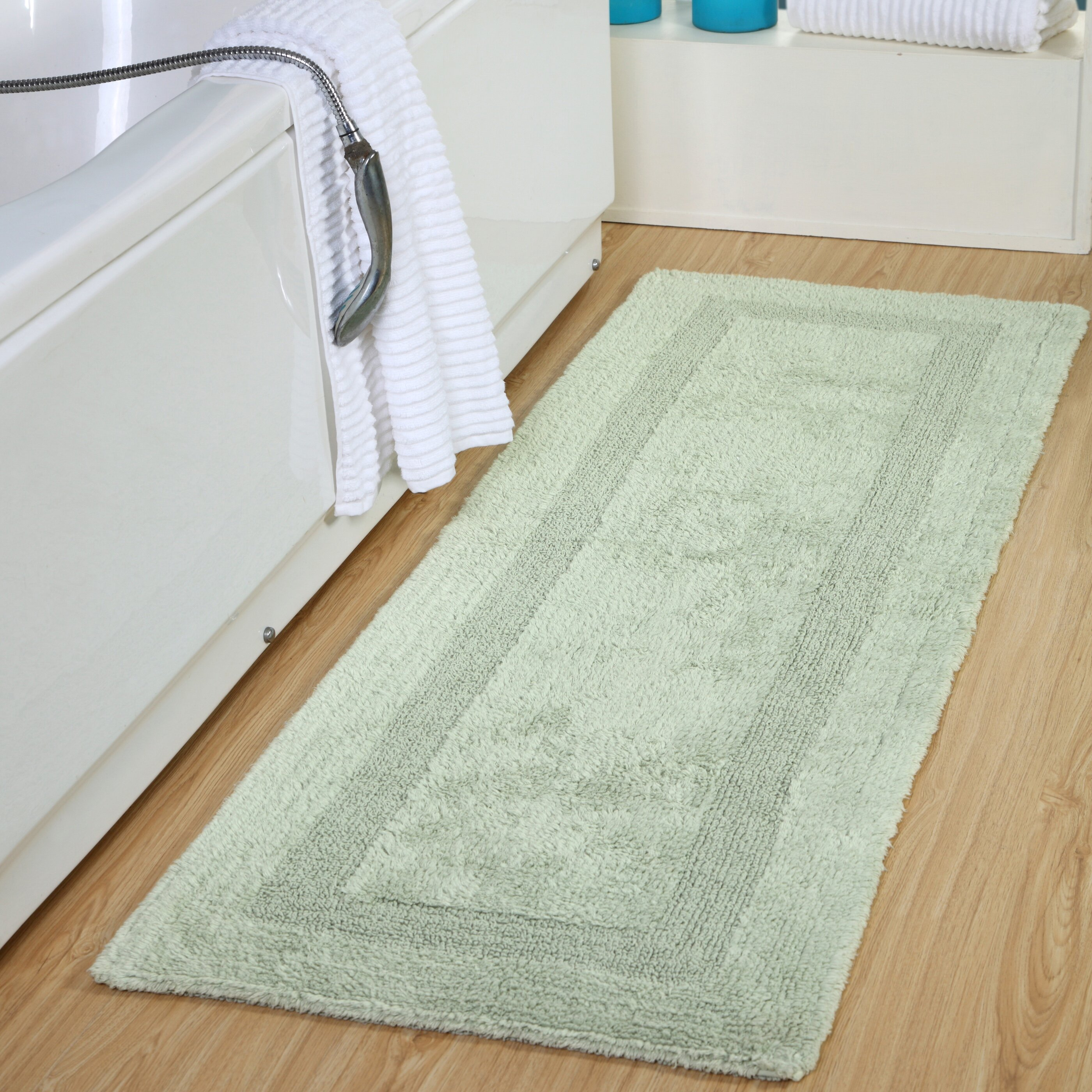 Green Bath Rugs Mats Free Shipping Over 35 Wayfair