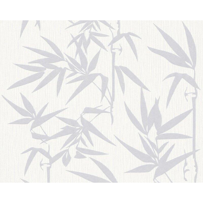 """Burdick Grass 33' L x 21"""" W Floral Wallpaper Roll"""