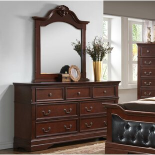 Haney 7 Drawer Dresser with Mirror