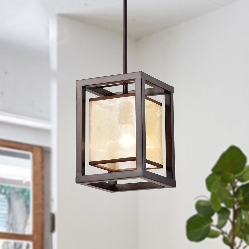 Gracie Oaks Cambra 1 - Light Single Square / Rectangle Pendant
