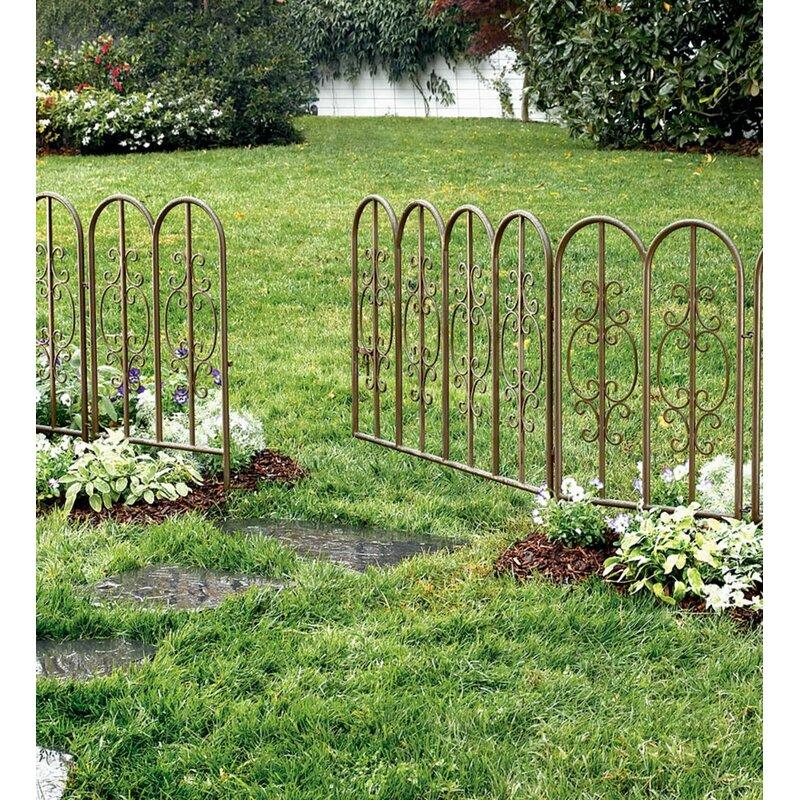 Plow Hearth 3 Ft H X 1 5 Ft W Montebello Decorative Iron Garden Short Fencing Reviews Wayfair