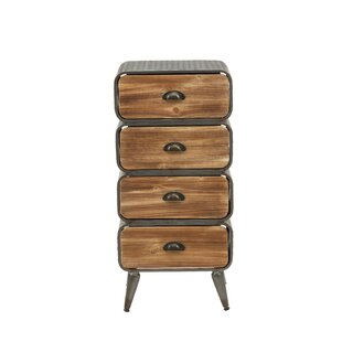 Williston Forge Krish Rounded 4 Drawer Chest