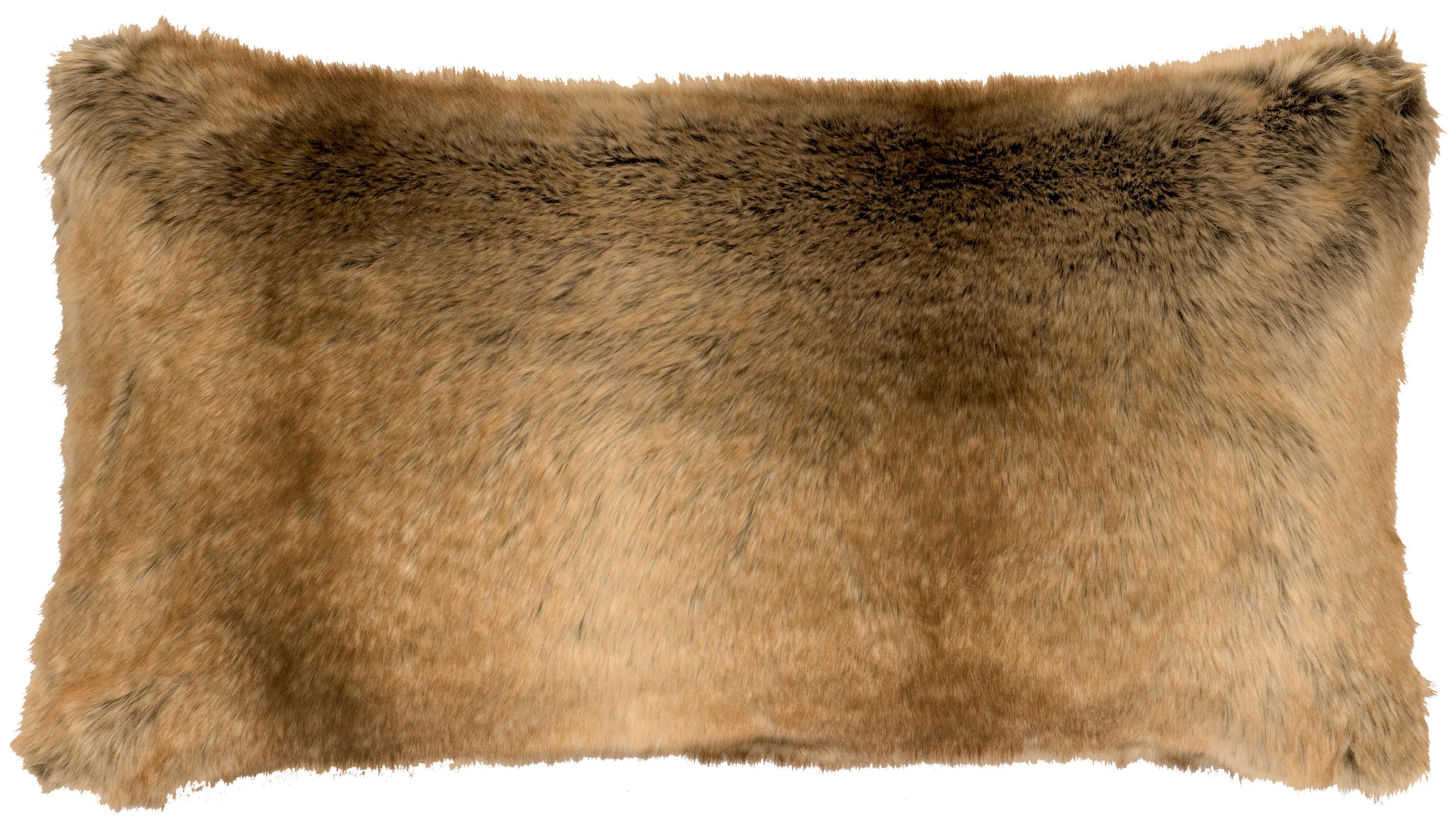 Picture of: World Menagerie Barcenas Chinchilla Faux Fur Lumbar Pillow Wayfair