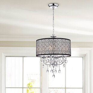 Willa Arlo Interiors Darshan 4-Light Drum Chandelier
