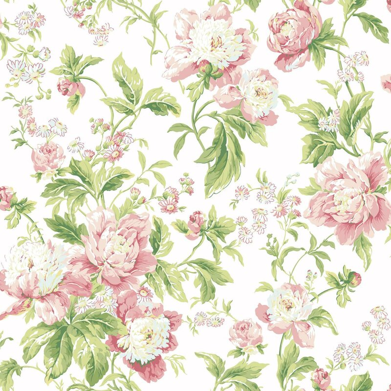 Waverly Forever Yours Floral and Botanical 3D Embossed Wallpaper