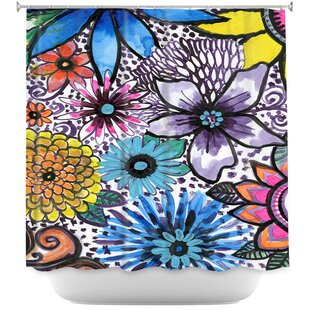 Flower Pop Single Shower Curtain