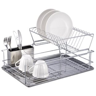 2 Tier Stainless Steel Dish Rack