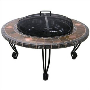 Wrought Iron Wood Burning Fire Pit Table