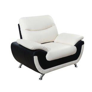 Nevarez Faux Leather Armchair