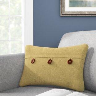 Lincolnton Button Envelope Linen/Cotton Lumbar Pillow