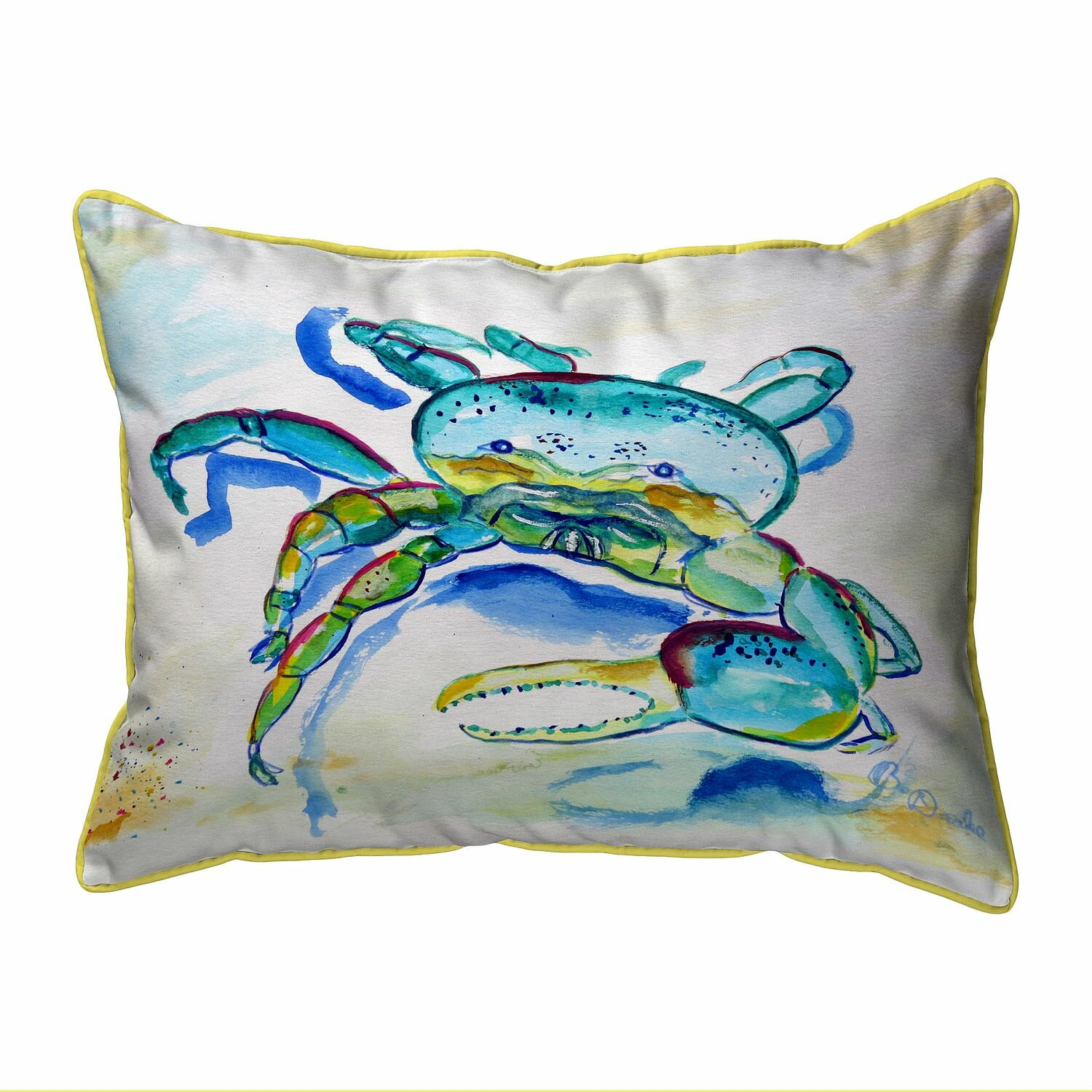 Breakwater Bay Kylie Crab Zippered Indoor Outdoor Lumbar Pillow Wayfair