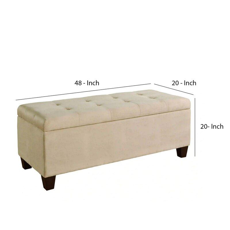 Winston Porter Rossmore Upholstered Storage Bench | Wayfair