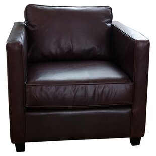 Elements Fine Home Furnishings Urban Top Grain Leather Standard Armchair