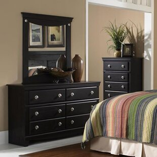 Fralick 6 Drawer Double Dresser with Mirror