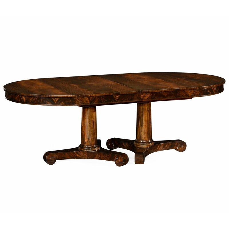 Jonathan Charles Fine Furniture Knightsbridge Biedermeier Extendable Solid Wood Dining Table Perigold