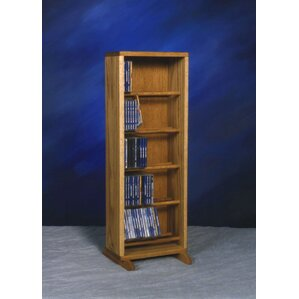 500 Series 130 CD Dowel Multimedia Storage Rack by Wood Shed