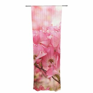 Sylvia Cook New Orleans Street Corner Photography Decorative Nature Floral Sheer Rod Pocket Curtain Panels Set Of 2