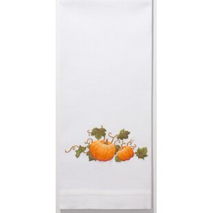 Lockett Pumpkins Grande Embroidered Kitchen Towel
